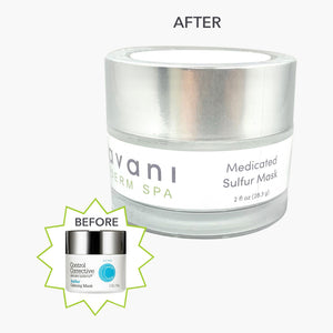 New look, same great product! Compare to Control Corrective's Sulfur Calming Mask