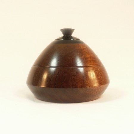 Wooden Bowl Black Walnut Ebony Jewelry Dish 1
