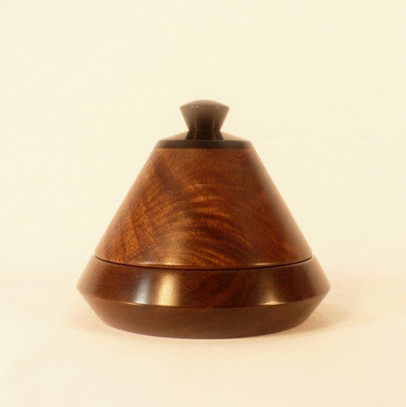 Jewelry Dish 2 With Lid Black Walnut Ebony Wood