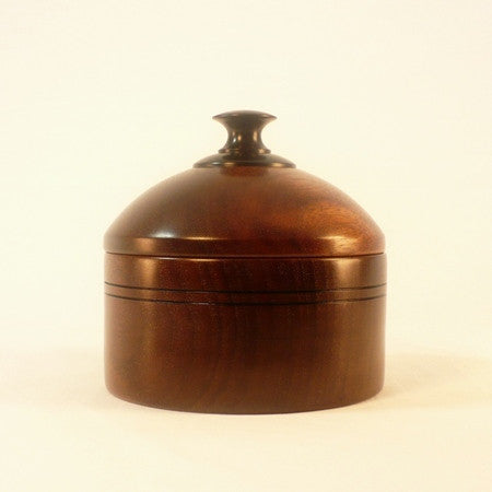 Wooden Jewelry Dish 3 With Lid Black Walnut Ebony