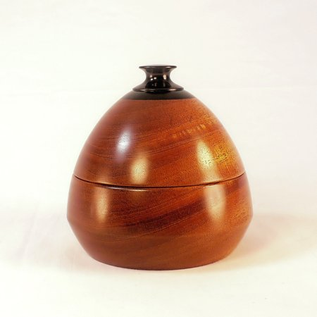 Jewelry Dish 4 Mahogany Ebony Wood Bowl With Lid