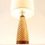 Handmade Wooden Table Lamp 12 Spiral Butternut Mahogany