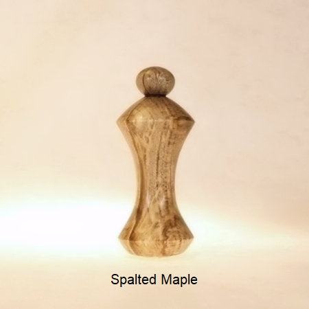 Lamp Finial Button Pattern 1 Spalted Maple Wood