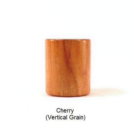Lamp Finial Drum 7 Cherry Wood