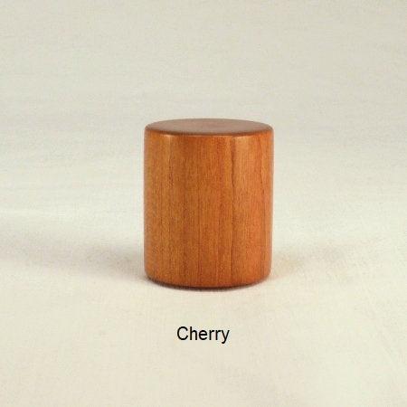 Lamp Finial Drum 6 Cherry Wood