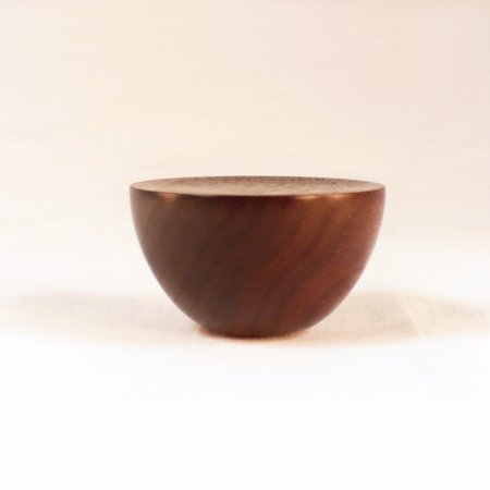 Custom Lamp Finial for Bonnie,  Cup 8, Black Walnut