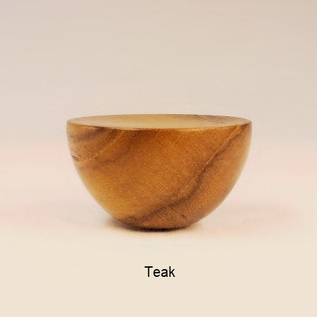 Wood Lamp Finial Cup 8 Teak