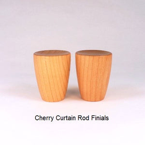 Custom Curtain Rod Finials Handmade In Cherry