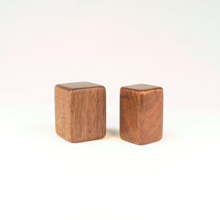 Custom Lamp Finials for Joe, Two Different Sized Square Patterns In Black Walnut
