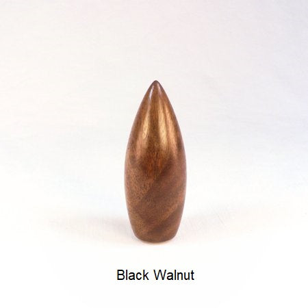 Black Walnut Lamp Finial Handmade In Dart Pattern 2