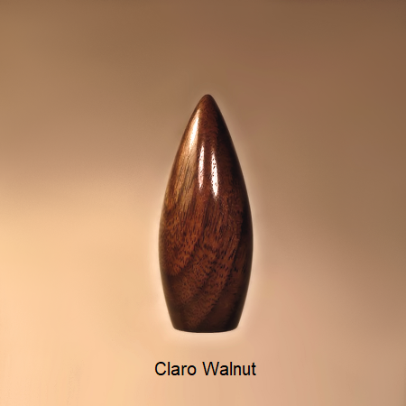 Wooden Lamp Finial Dart 2 Claro Walnut