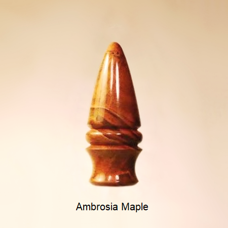 Wooden Lamp Finial Dart 7 Ambrosia Maple
