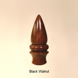 Black Walnut Lamp Finial Dart 7