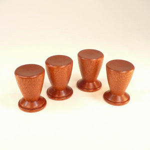 Custom Order For Dave D., Matching Set of 4 Bed Post Finials; Mahogany