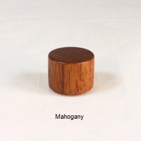 Lamp Finial Drum 10 Mahogany Wood