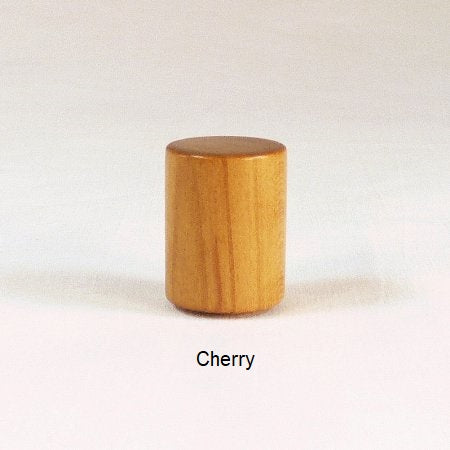 Lamp Finial Cherry Wood Drum 12