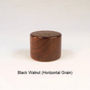 Wooden Lamp Finial Drum 5 Black Walnut