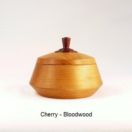 Wooden Sugar Bowl 5 in Cherry and Bloodwood