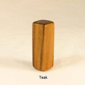 Wood Lamp Finial Teak Square 1