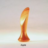Lamp Finial Smooth Crescent Apple Wood