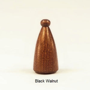 Lamp Finial Button Pattern 4 Morado Bolivian Rosewood