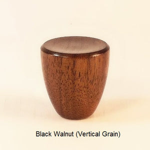Wooden Lamp Finial Cup 7 Black Walnut