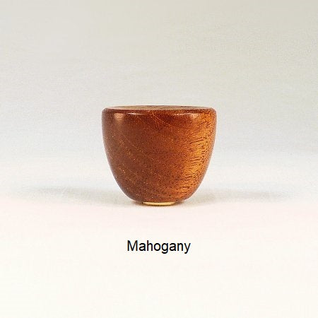 Wooden Lamp Finial Cup 1 Mahogany