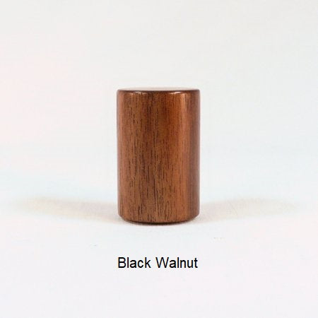 Black Walnut Lamp Shade Finial Drum 14 Mid Century Modern