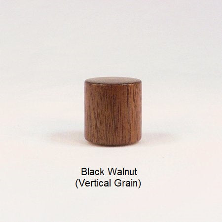 Wood Lamp Finial Black Walnut Drum 15