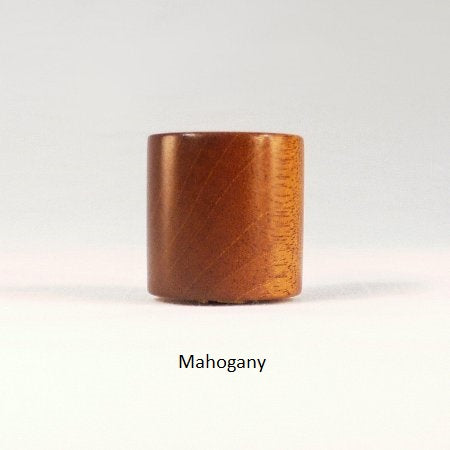 Wooden Lamp Finial Drum 4 Mahogany