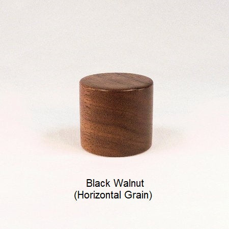 Wood Lamp Finial Large Drum 8 Black Walnut