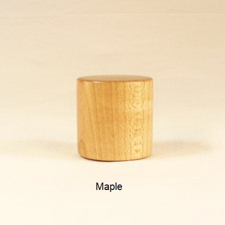 Wood Lamp Finial Drum 9 Maple