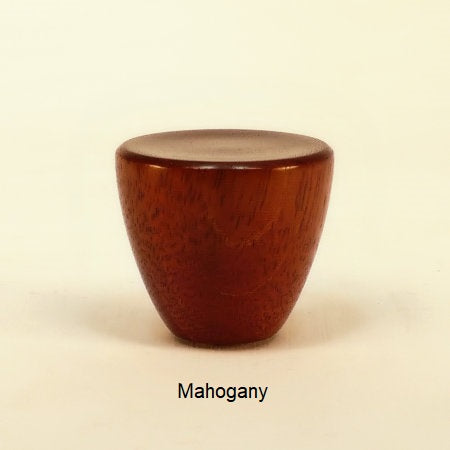 Lamp Finial Cup 3 Mahogany Wood