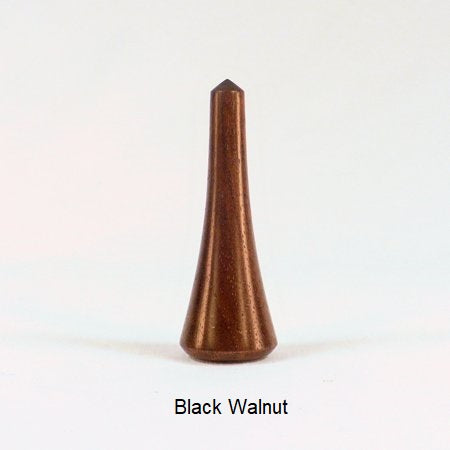 Wood Lamp Finial Black Walnut Spires 3