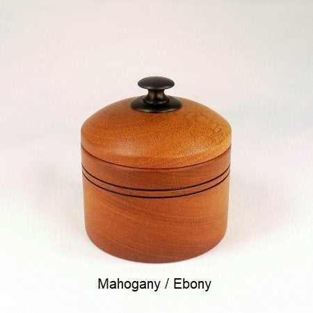 Wooden Sugar Bowl 1 in Mahogany and Ebony
