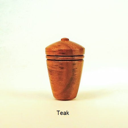 Lamp Finial Teak Wood Dome 4