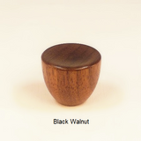 Wood Lamp Finial Cup 1 Black Walnut