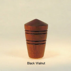 Wooden Lamp Finial Dome 2 Black Walnut