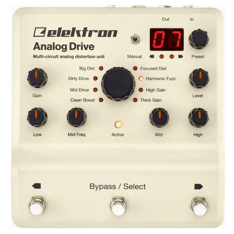 Elektron Analog Drive Multi Circuit Analog Distortion Fuzz Overdrive