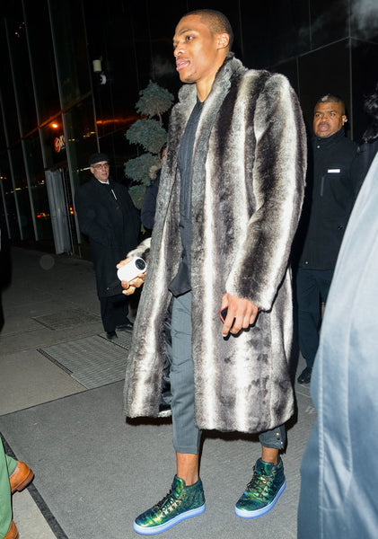 Russ Westbrook fur coat