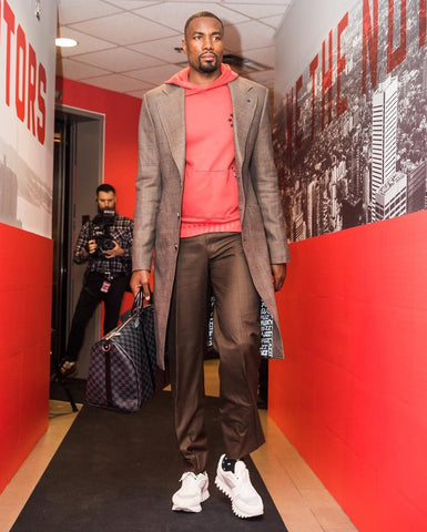 Serge Ibaka in a stylish outfit