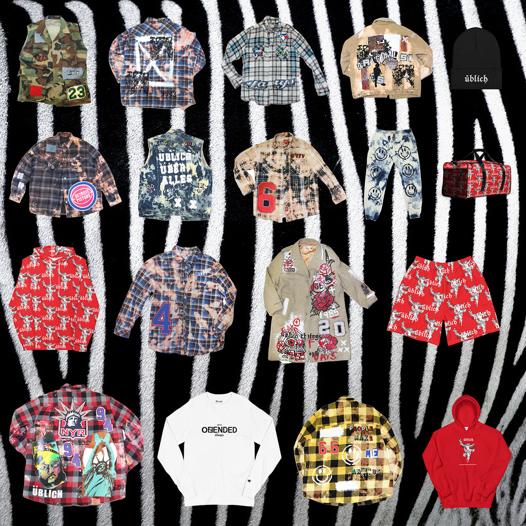 clothing photos of the drop collection