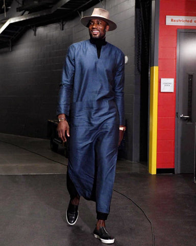 Serge Ibaka in an African influenced outfit