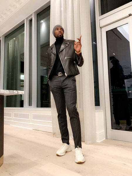 Serge Ibaka in a designer outfit