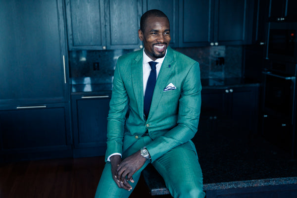Serge Ibaka in a teal suit