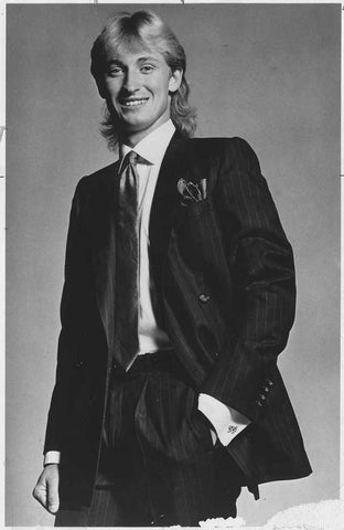Wayne Gretzky in a suit