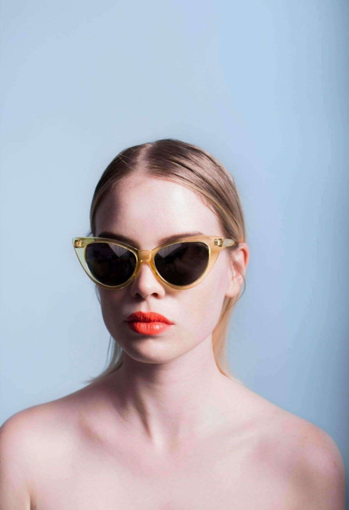 Crystal Yellow Phantom Sunglasses - HAYLEY ELSAESSER