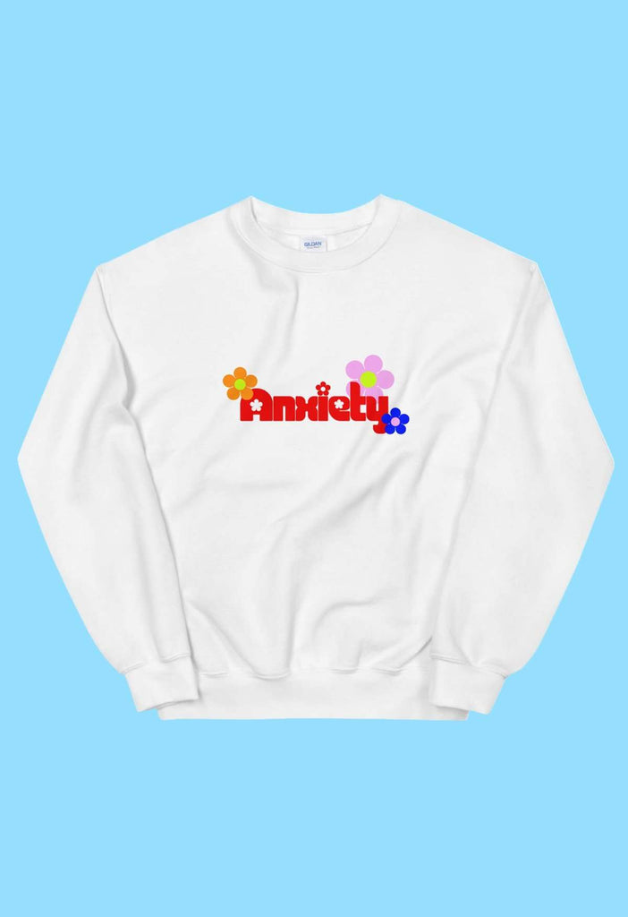Anxiety Crewneck Sweatshirt - HAYLEY ELSAESSER