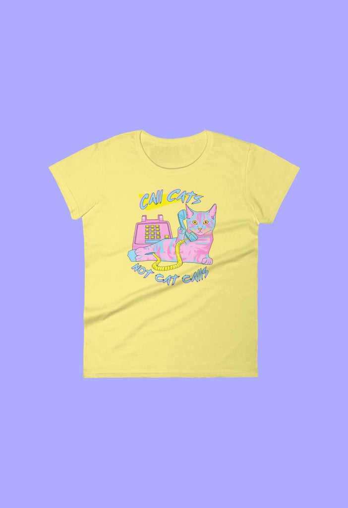 Call Cats Fitted Baby Tee - HAYLEY ELSAESSER