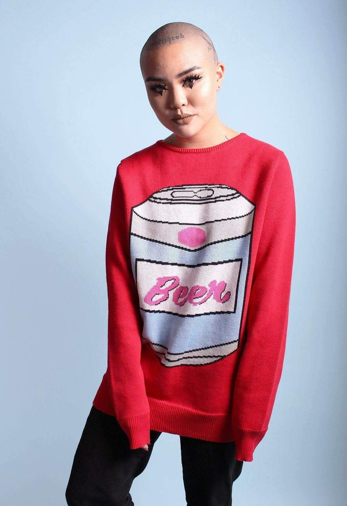 Brewski Beer Knit Sweater